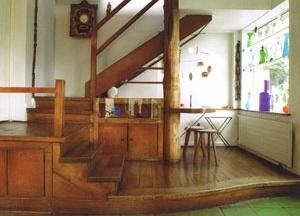 Casa Chascona, interior do salão principal<br />Foto Rodrigo Díaz Wichmann