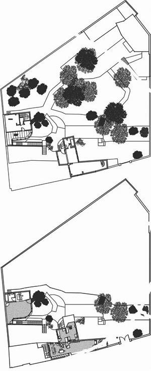 Casa Chascona (1952-1956), planta primera e segunda