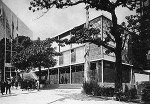 Pavilhão da Espanha na Exposição de Paris de 1937, arquitetos José Luis Sert e Luis Lacasa<br />Foto autor desconhecido