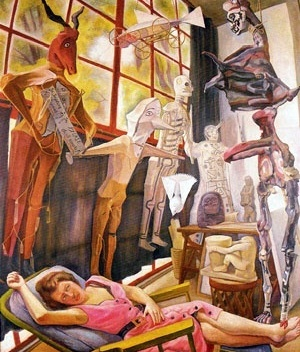 Estudio del pintor, Diego Rivera, 1954