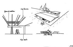 Croquis da primeira residência do arquiteto [arquivo pessoal do arquiteto Milton Ramos]