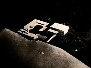 Hotel de Transito da Aeronáutica, foto da maquete [arquivo pessoal do arquiteto Milton Ramos]