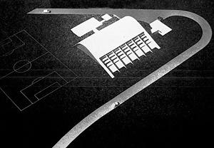 Ginásio Poliesportivo do Cassab [arquivo pessoal do arquiteto Milton Ramos]