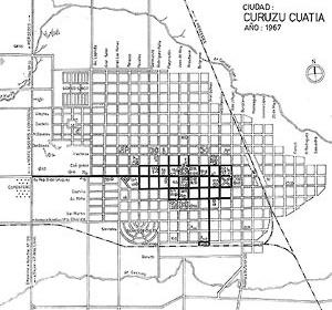 Plano de la ciudad con Detalle de equipamiento, año 1967