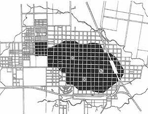 Area urbanizada en Curuzú Cuatiá en 1934