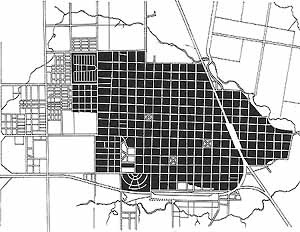 Area urbanizada en Curuzú Cuatiá en 1967