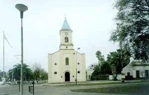 Iglesia Virgen del Pilar, plaza Belgrano, Curuzú Cutiá, 1913