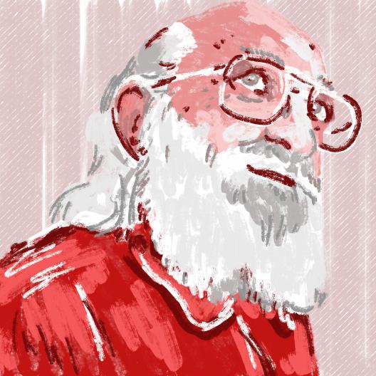 Paulo Freire (Recife, 1921 - São Paulo, 1997)<br />Ilustração Ana Carolina Buim Azevedo Marques