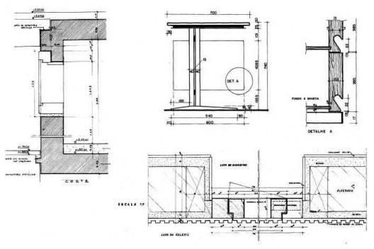 """Detalhes que compõem o sentido de """"obra integral"""" – o domínio das etapas da estrutura ao detalhe do pé da mesa [Arquivos digitais com desenhos de Roza / Jayme Wesley de Lima]"""