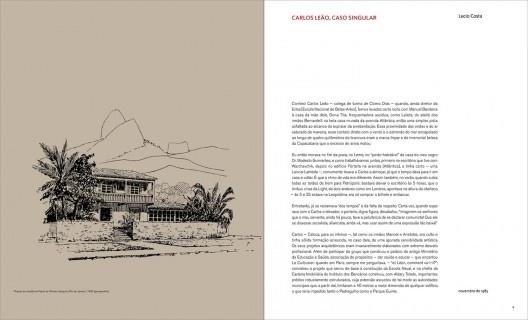 Páginas internas do livro <i>Carlos Leão: arquitetura</i>, organização de Jorge Czajkowski, Claudia Pinheiro, Sula Danowski e Roberto Conduru
