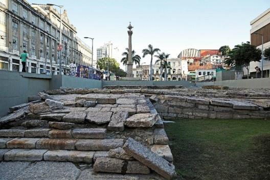 Cais do Valongo, no Rio de Janeiro, inscrito na Lista do Patrimônio Mundial da Unesco em 2017<br />Foto Agência Brasil Fotografias  [Creative Commons]