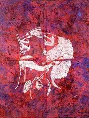 Sem título (série body-builders), 205 x 160 cm. Alex Flemming, 2001