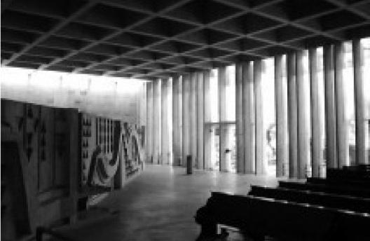 Interior da Abadia de Santa Maria, projetada por Hans Broos [Arquivo Hans Broos]