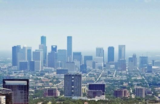 Vista aérea do centro de Houston, Texas, 2009<br />University of Texas Health Science Center at Houston Office of Communications  [Wikimedia Commons]