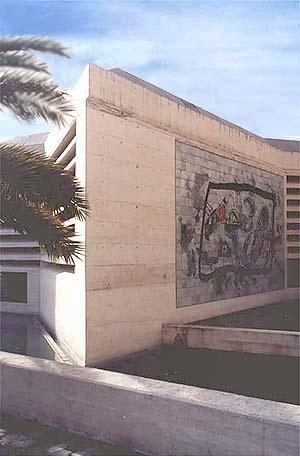 Fundação Pilar e Joan Miró, Palma de Mallorca. Detalhe do bloco de exposições
