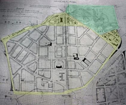 Dessau. Destacamos o anel periférico e seu parque principal [FREIRE, 1911]