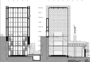 Fig. 25 - Casa dos 24, cortes, Projeto de Execução, 1998