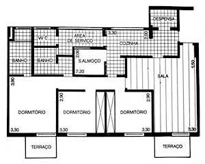 Fig. 05 – Conjunto residencial Pirineus, Estrada de Itapecerica, s/ identificação do autor, 1978, planta tipo [Jornal Folha de S. Paulo, 15/03/1978]