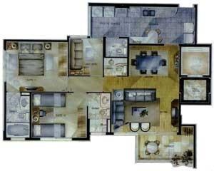 Fig.10 – Edifício New York Condominium, São Paulo, s/ identificação do autor, década de 1990, planta tipo [www.romeuchapchap.com.br]