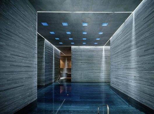 Termas de Vals, Suíça, arquiteto Peter Zumthor<br />Foto divulgação  [Prize Pritzker]
