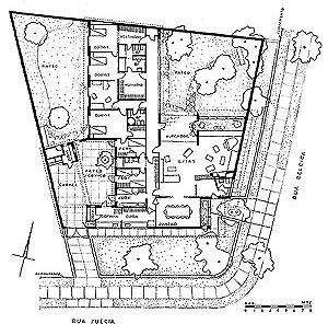 Residência do Arquiteto, 1944. Planta baixa [Acervo Digital Rino Levi FAU PUC-Campinas]