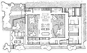 Residência Castor Delgado, 1958. Planta baixa [Acervo Digital Rino Levi FAU PUC-Campinas]