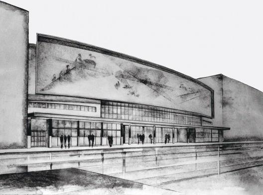Teatro Cultura Artística, São Paulo, 1942-1943. Arquitetos Rino Levi e Roberto Cerqueira César<br />Imagem divulgação  [Acervo digital Rino Levi]