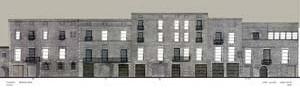 Museu Picasso, elevação Rua Montcada, proposta inicial não realizada<br />Foto: Institut Amatller d'Art Hispànic / Arxius MAS / Arxiu Fotogràfic Municipal