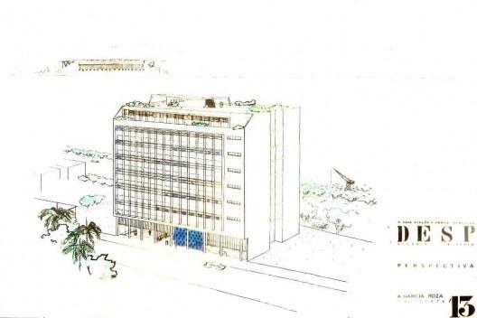 Perspectiva do edifício da Sefaz, de 1951 [Acervo da família de Roza]