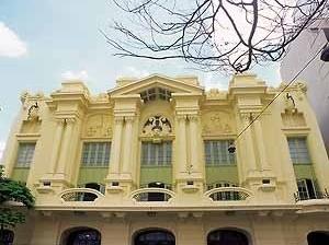 Vista parcial da fachada restaurada<br />Foto Haroldo Gallo