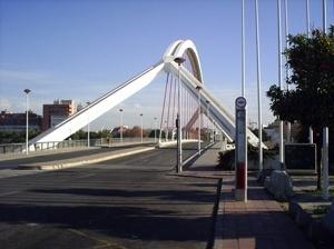 Ponte de La Barqueta, visão frontal<br />Foto Vera Hazan