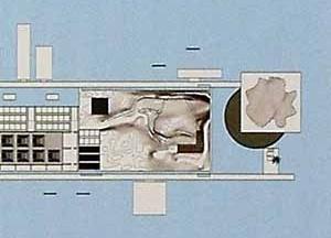 Museu Guggenheim, detalhe da planta, Rio de Janeiro. Arquiteto Jean Nouvel. Imagem divulgação
