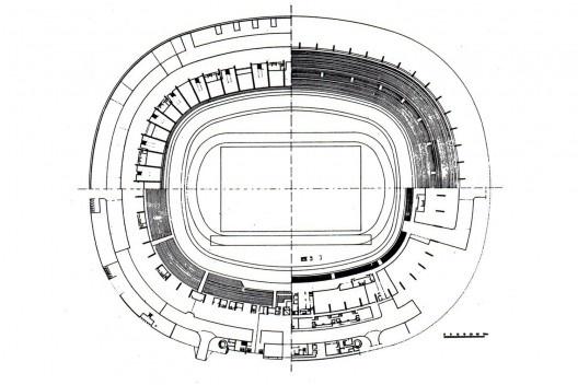 Planta Estádio Castelão (1969) [Castro, 1982]