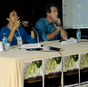 Mesa de encerramento, com Marcia Nogueira e Alfredo Sirkis
