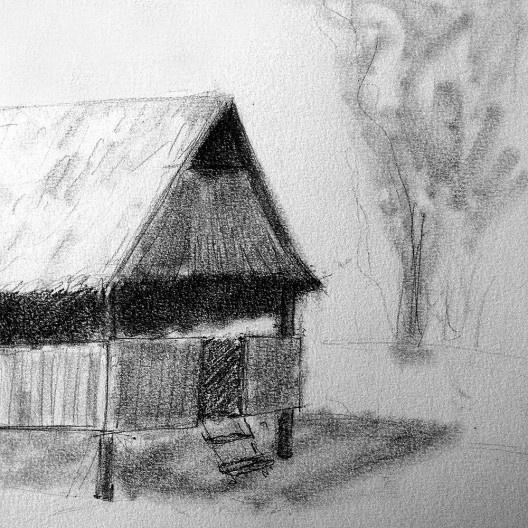 A casa<br />Desenho de Iazana Guizzo