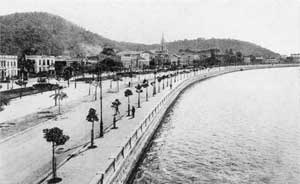 Enseada de Botafogo, início do século XX<br />Foto Augusto Malta