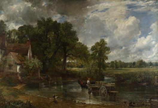 John Constable, A carroça de feno, óleo sobre tela, 1821<br />Imagem divulgação  [National Gallery, London]