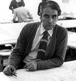 Marcello Fragelli no escritório da Promon Engenharia<br />Foto Acervo do Arquiteto
