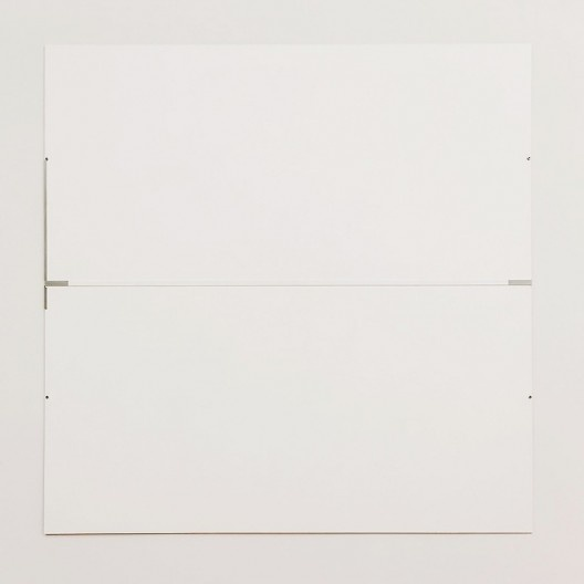 "Robert Ryman, ""The Elliott Room: Charter II"", 1987, series 1985-1987<br />Imagem divulgação  [Art Institute Chicago / Cortesia Pace Wildenstein]"