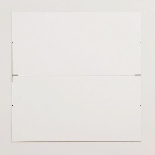 "Robert Ryman, ""The Elliott Room: Charter II"", 1987, series 1985-1987<br />Imagem divulgação  [Art Institute Chicago / Cortesia Pace Wildenstein]"
