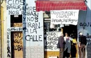 Diferentes plataformas anti-Fórum tienen la red llena de propuesta innovadoras para dejar su posición crítica ante el acontecimiento del Fórum 2004. [www.fotut2004.org]