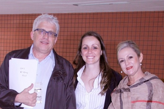 Salvador Gnoato, Michelle Schneider e Cleusa de Castro, organizadores do evento<br />Foto Michelle Schneider