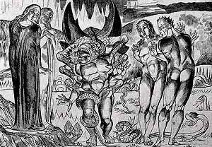 Gravura para o Inferno de Dante, de Brunelleschi