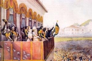 Coroação de Dom Pedro I, Jean Baptiste Debret [Estado de São Paulo]