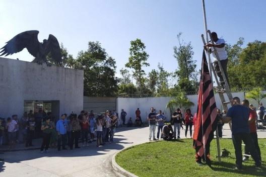 Homenagem do Clube de Regatas Flamengo aos meninos mortos em incêndio no alojamento no centro de treinamento<br />Foto Tomaz Silva  [Agência Brasil]
