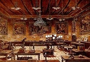 Iluminação elétrica nos espaços internos, ao final do século XIX