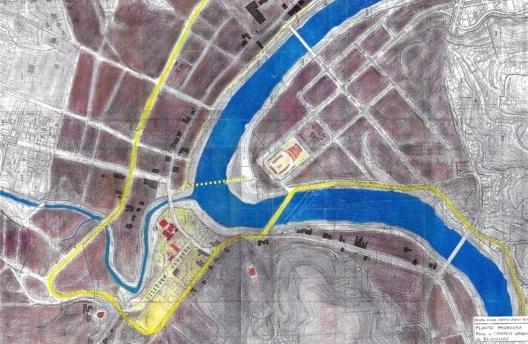 Croqui de proposta para a cidade de Blumenau, SC [Arquivo Hans Broos]