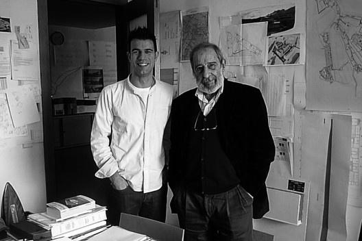 Álvaro Siza e Hugo Oliveira<br />Foto Pedro Frutuoso