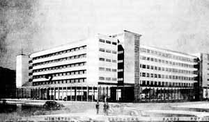 Concurso para o edifício-sede do Ministério da Educação e Saúde, 3º colocado, arquiteto Gerson Pinheiro [CAVALCANTI, Lauro. As preocupações do belo. Rio de Janeiro, Taurus, 1995]