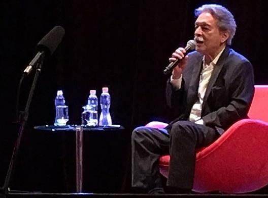 Paulo Mendes da Rocha no auditório Ruy Barbosa<br />Foto Silvana Romano